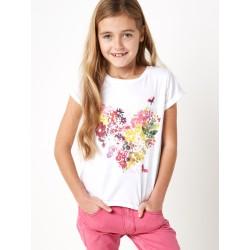 Tričko s květinou